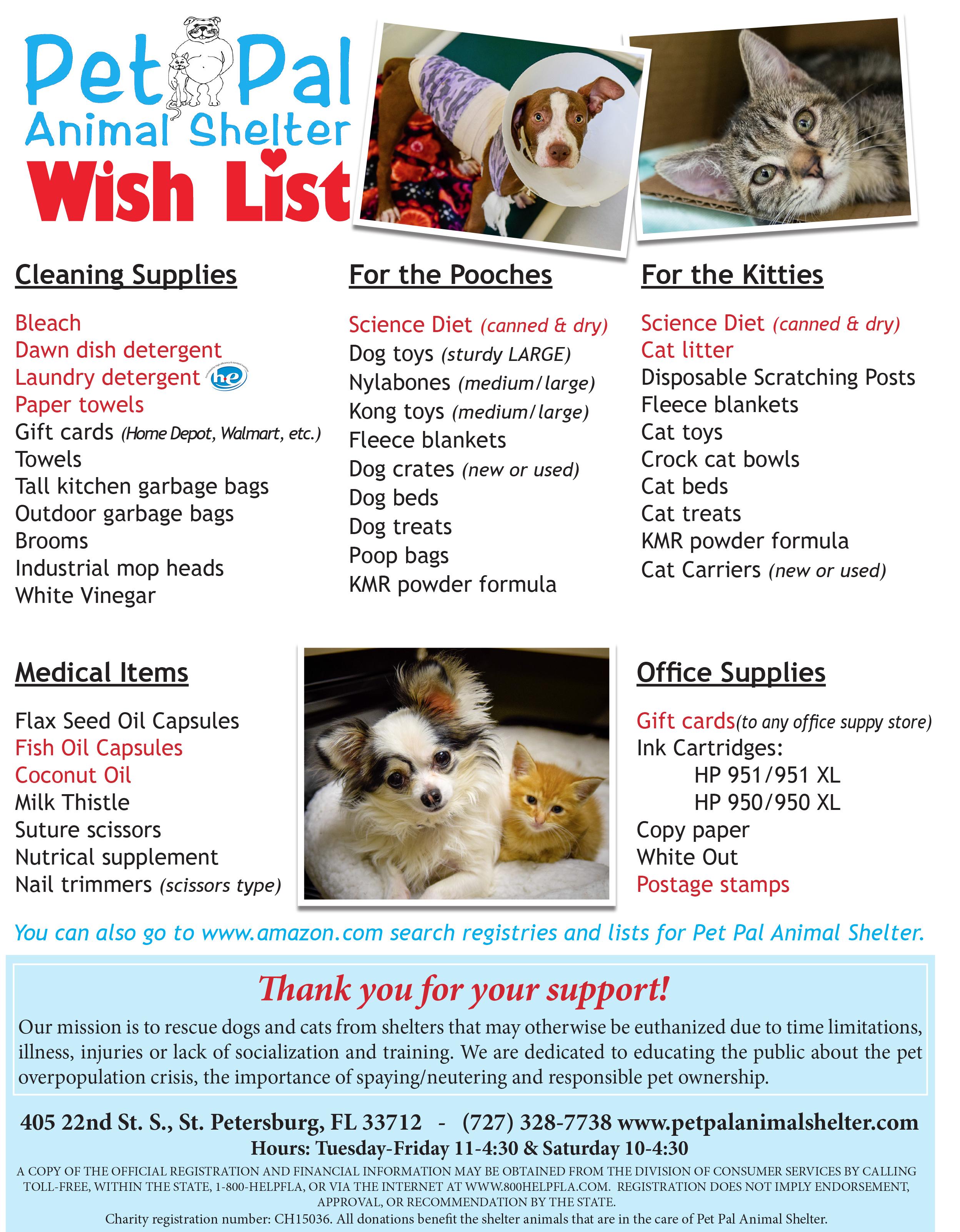 wish-list-2016 - Pet Pal Animal Shelter